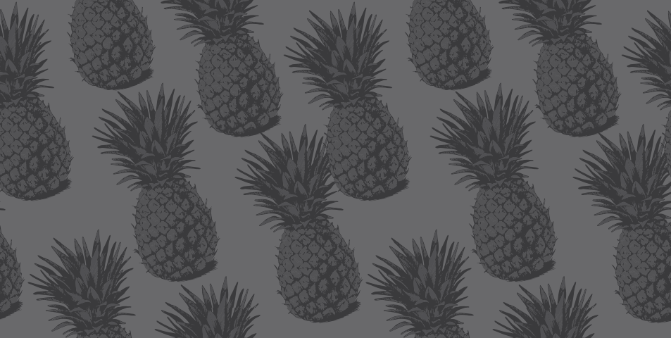 Several pineapples in greyscale coloring