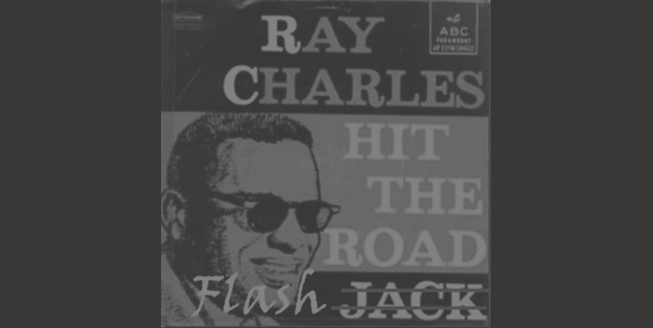 A modified Ray Charles Album Cover 'Hit the Road Flash'