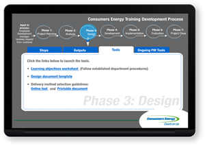 Consumers Energy - Training Development Process